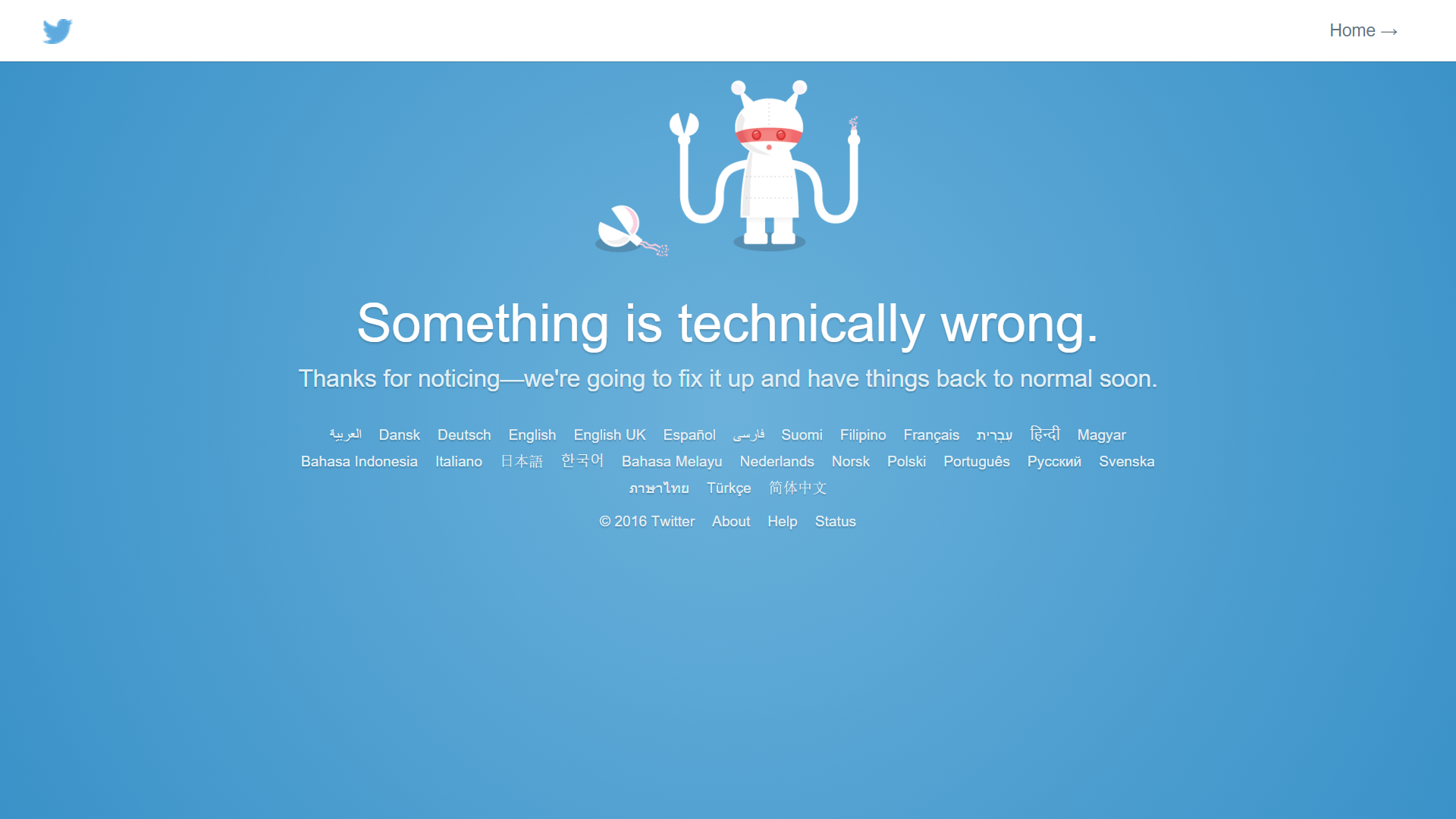 Social Media Marketing - Twitter Error