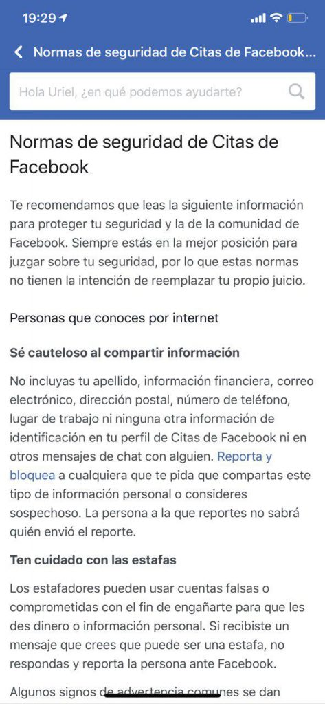 Facebook Dating 4 - sitio Juan Manuel Torres