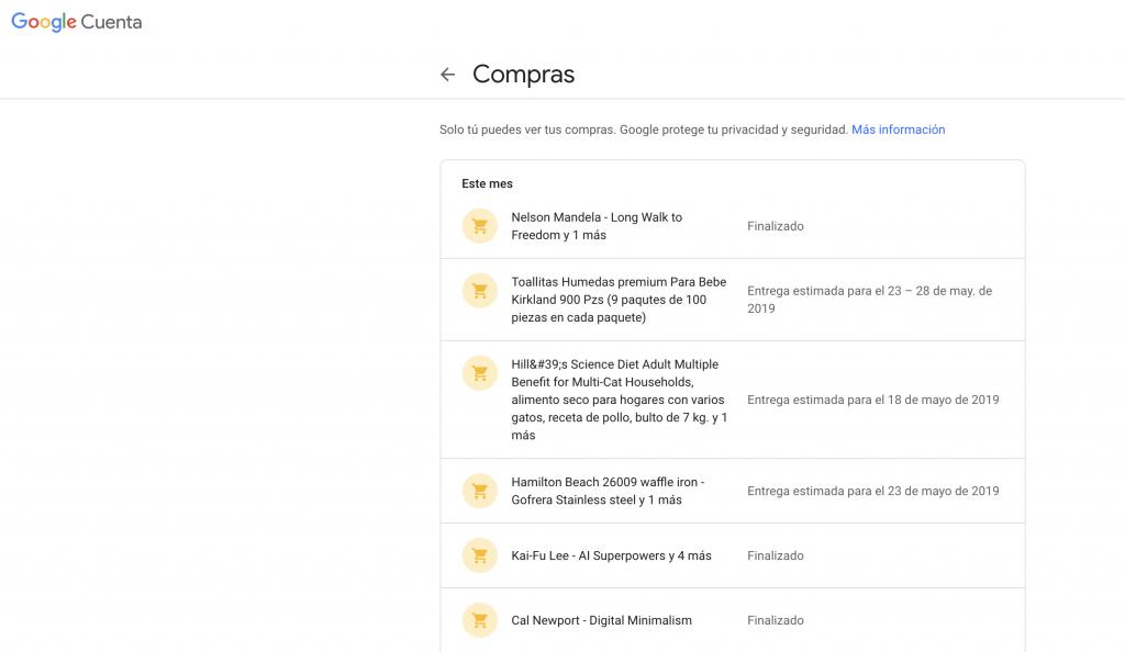 Privacidad Digital: Google tiene acceso a todas tus compras, de cualquier comercio