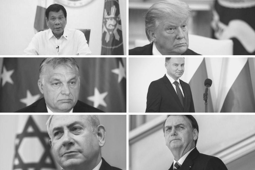 En la imagen se muestra a los principales líderes mundiales que han aprovechado el discurso del odio desde el poder