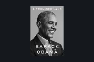 En la imagen se observa un letrero sobre discurso de odio que señala Barack Obama en su libro